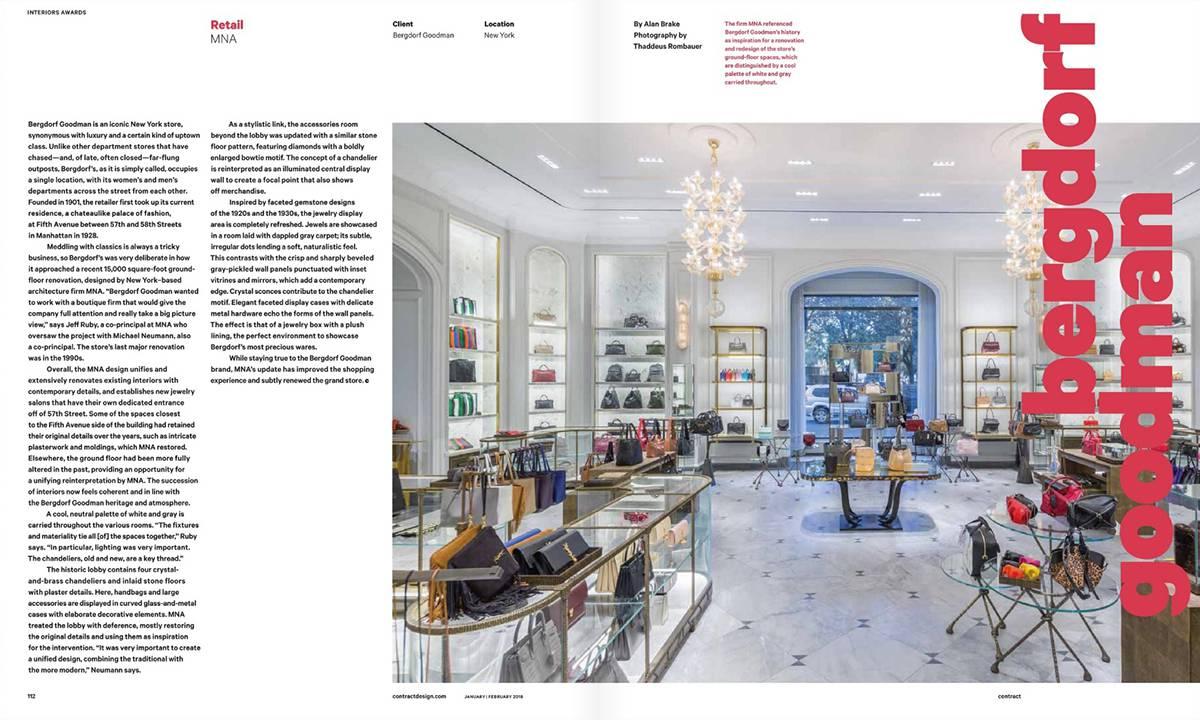 Contract Magazine Awards - Bergdorf Goodman, NYC - Architect: Neumann & Rudy