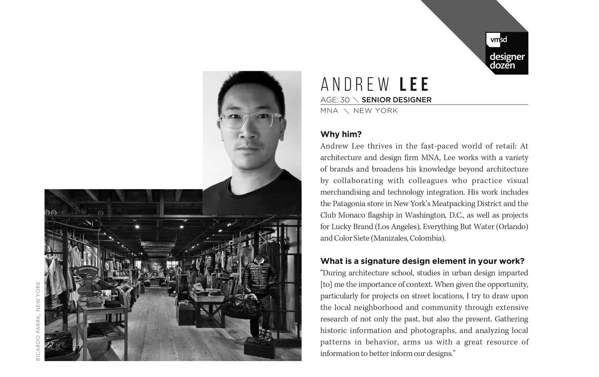 Andrew Recognized by VMSD and design:retail - Neumann & Rudy