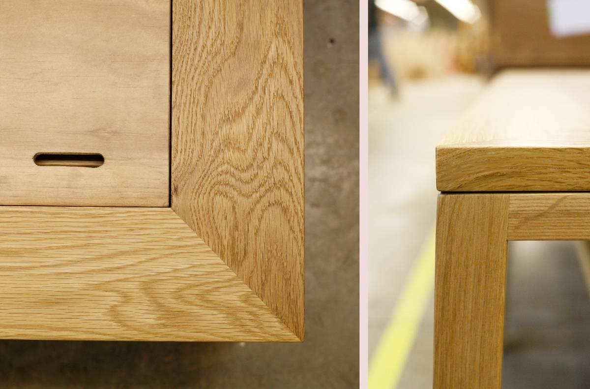 Custom Oak Daybed Detail - Architect: Neumann & Rudy
