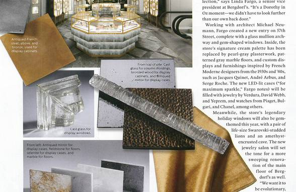Bergdorf Goodman Jewelry Salon in Elle Decor - Architect: Neumann & Rudy