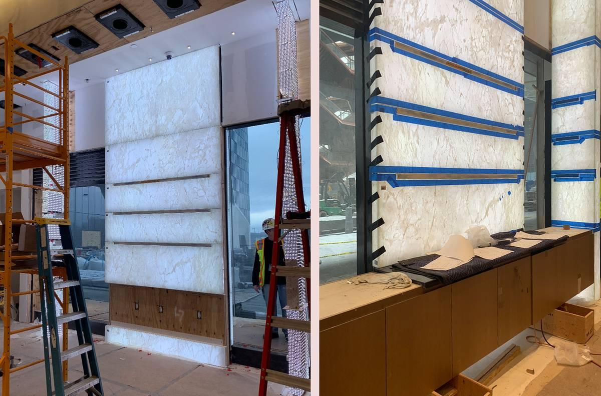 Watches of Switzerland - WOS Hudson Yards Backbar Onyx Installation, NY, NYC - Architect: Neumann & Rudy