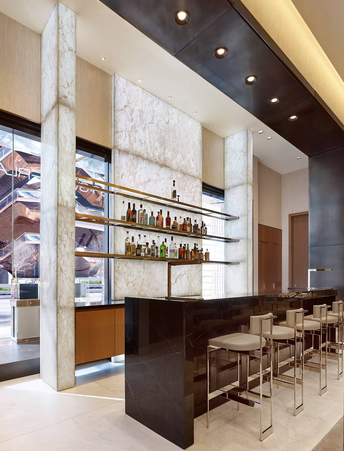 Watches of Switzerland - WOS Hudson Yards Backbar Onyx, NY, NYC - Architect: Neumann & Rudy