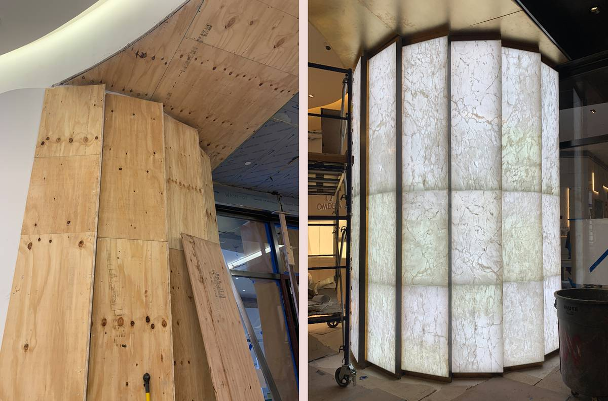 Watches of Switzerland - WOS Hudson Yards Storefront Onyx Installation, NY, NYC - Architect: Neumann & Rudy