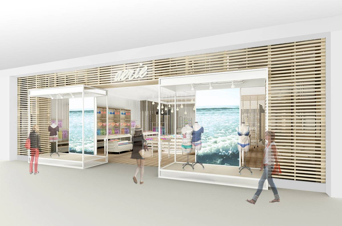 Aerie Concept Design - Sheer Storefront Model - Architect: Neumann & Rudy