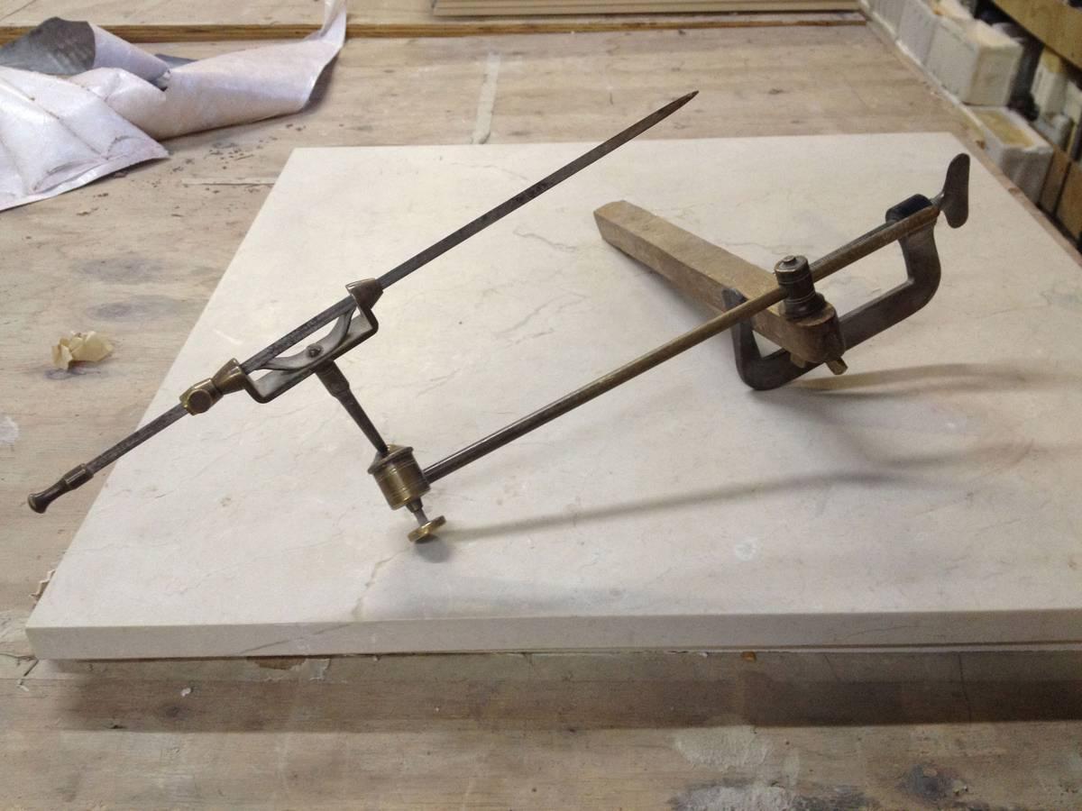 Hand Carved Decorative Artisan Stonework, Clay Model Tool - Architect: Neumann & Rudy