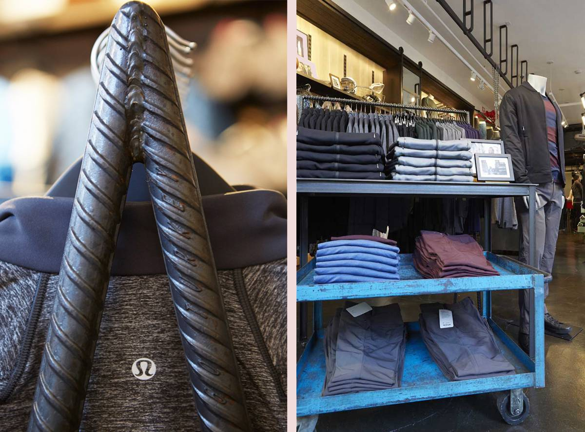 Lululemon Soho Men's Shop Opens Custom Fixtures - Architect: Neumann & Rudy