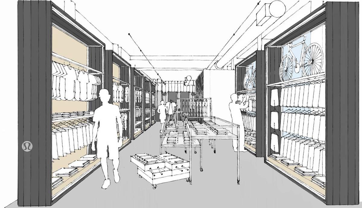 Lululemon's First Ever Mens Store 3d Model - Architect: Neumann & Rudy