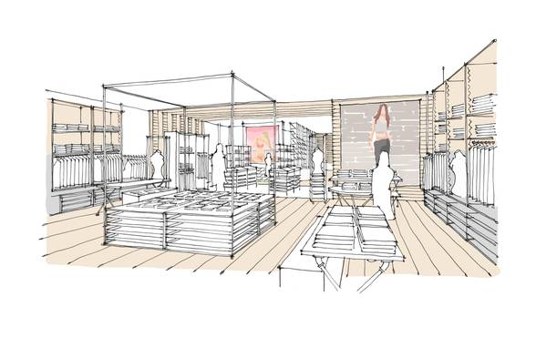 Concept Design: Aerie Sketches - Architect: Neumann & Rudy