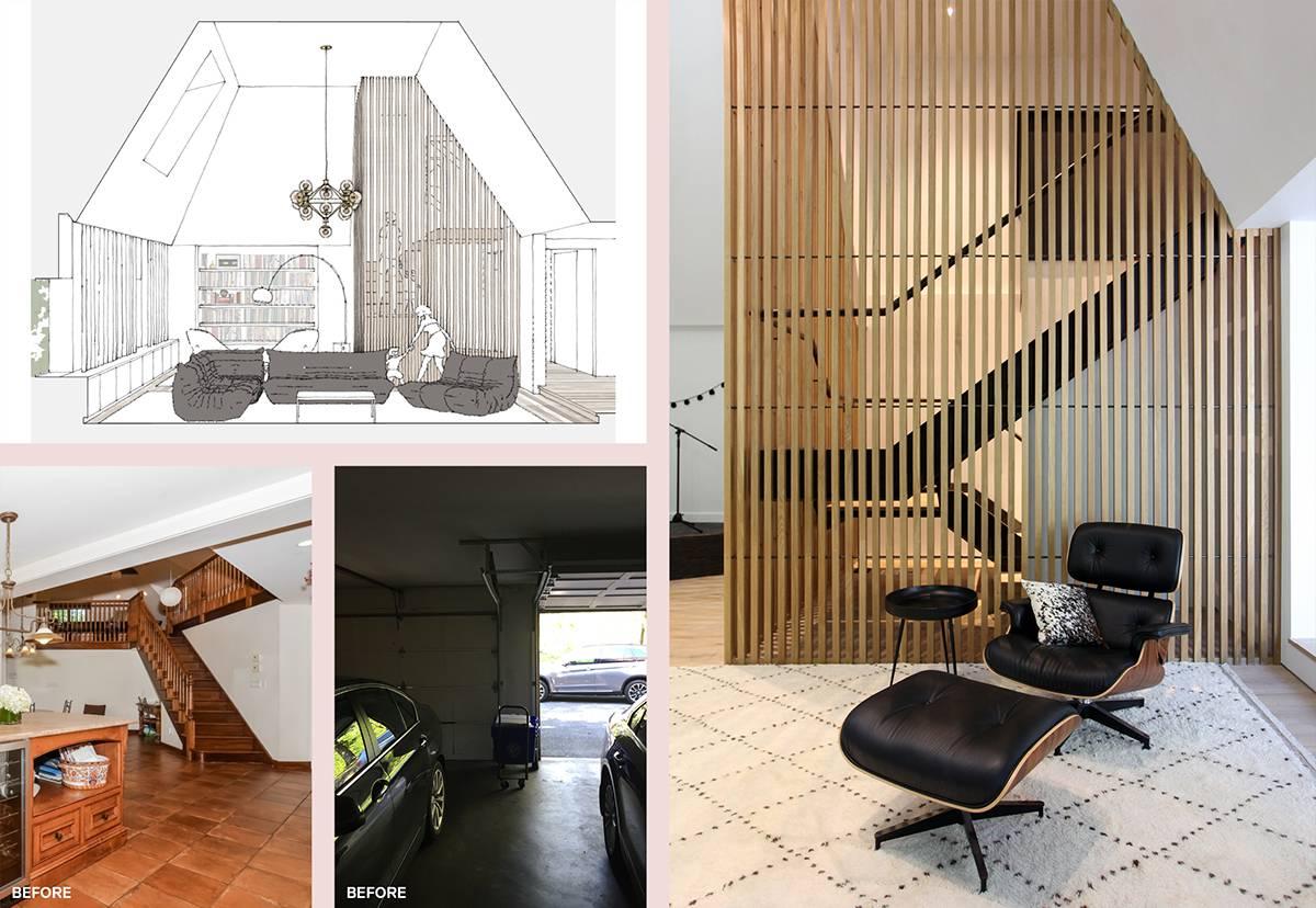 Wood Slat Screen Wall: Sterling Ridge - Architect: Neumann & Rudy