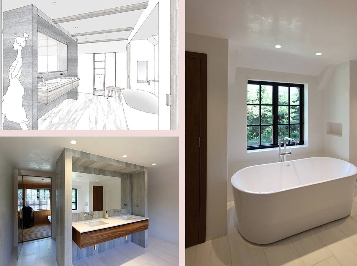 Master Bathroom Before and After: Sterling Ridge - Architect: Neumann & Rudy