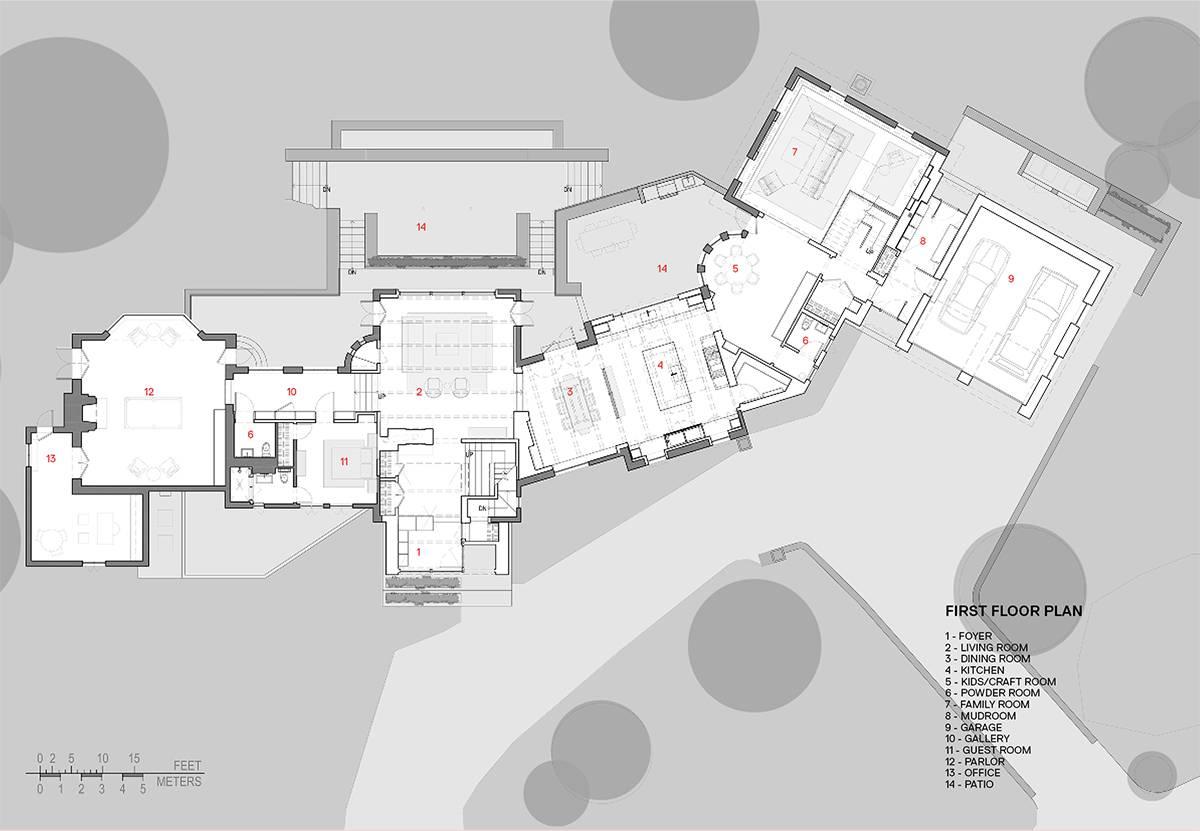 First Floor Plan: Sterling Ridge - Architect: Neumann & Rudy