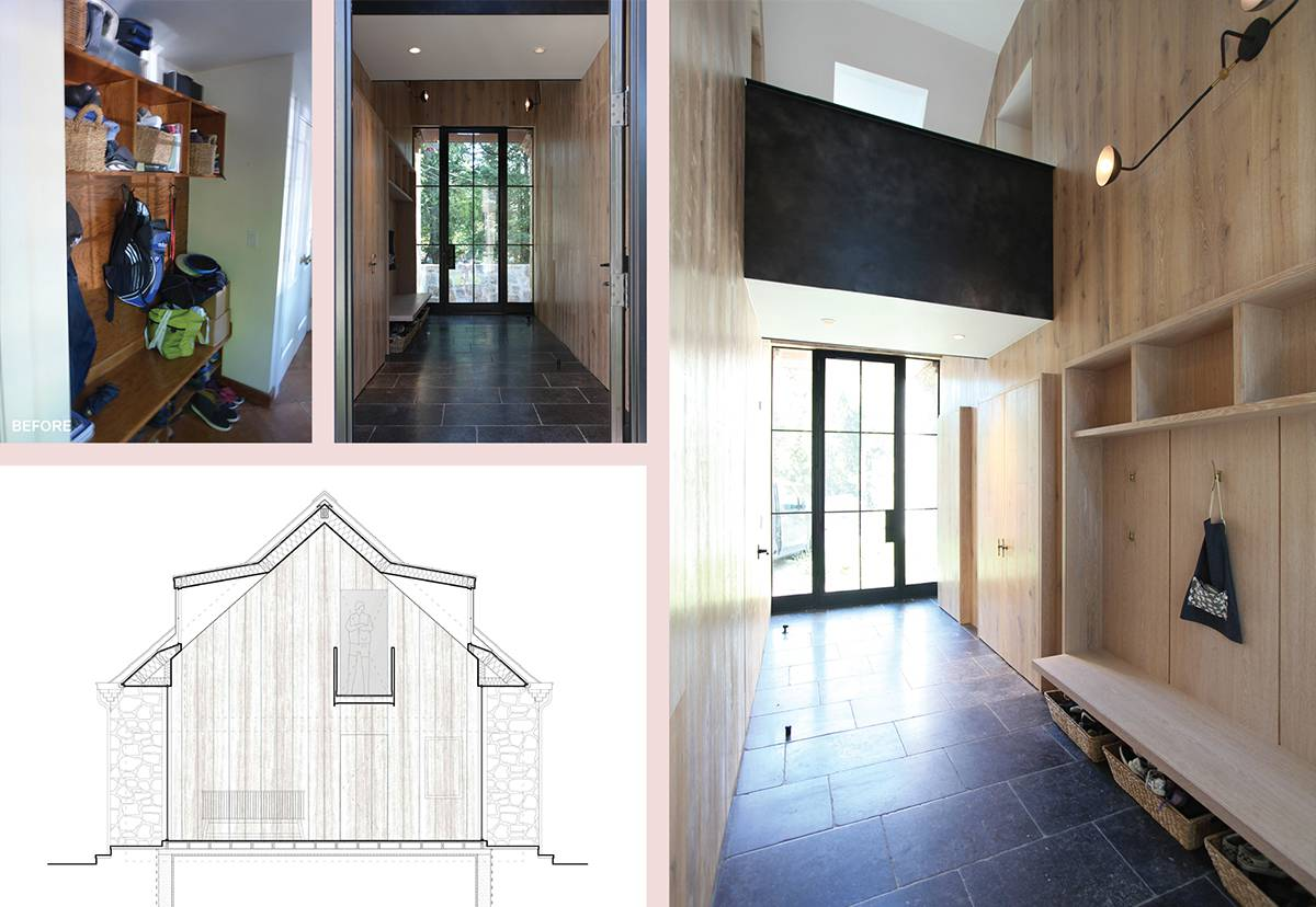 Mudroom Addition, Steel Bridge to Guest SuiteMaster Bed Room Before and After, Cathedral Ceiling: Sterling Ridge - Architect: Neumann & Rudy
