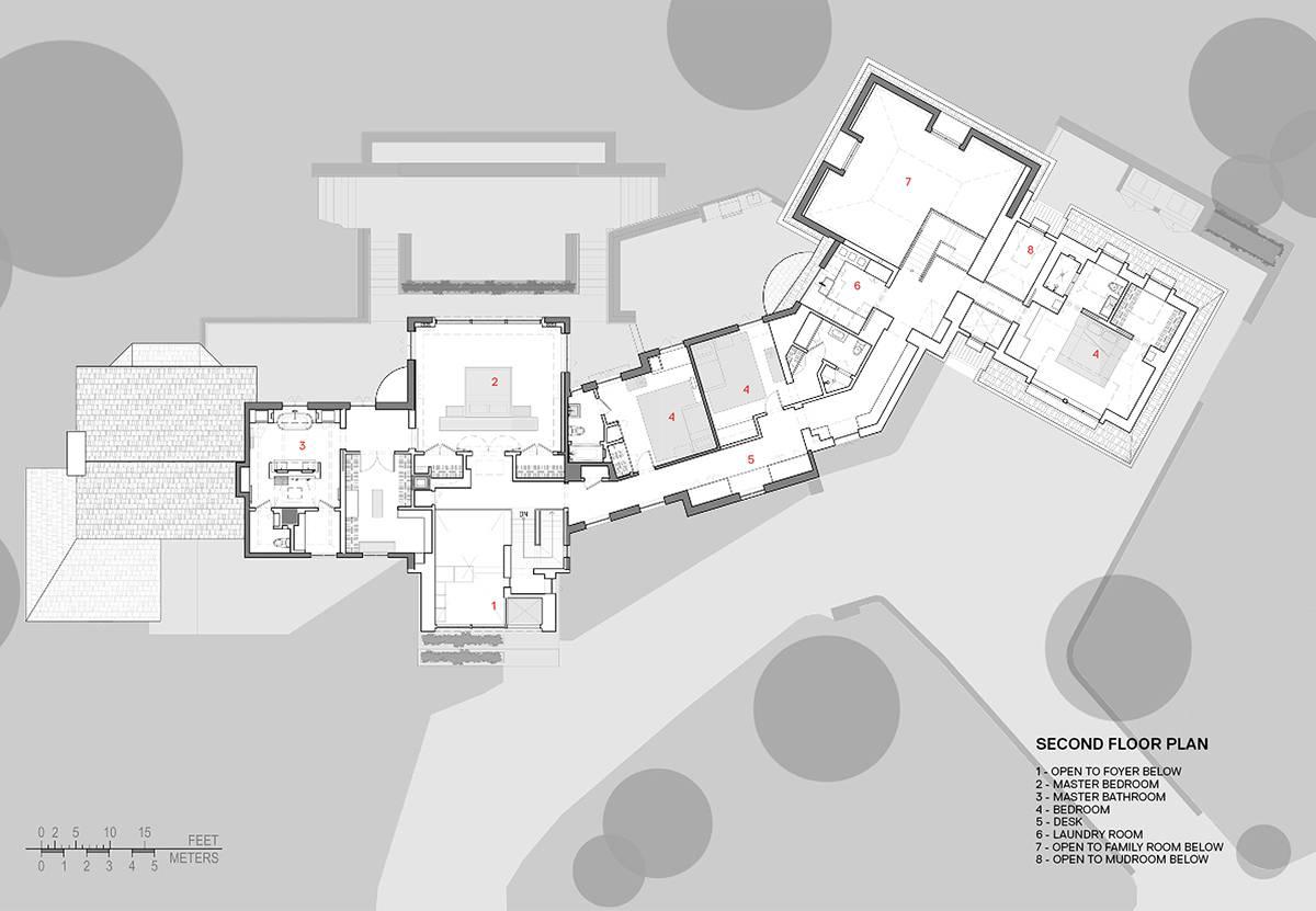 Second Floor Plan: Sterling Ridge - Architect: Neumann & Rudy