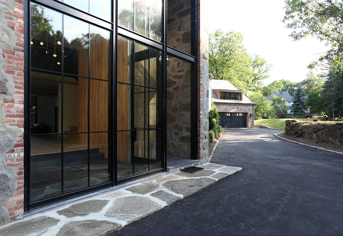 Steel and Glass Foyer: Sterling Ridge - Architect: Neumann & Rudy