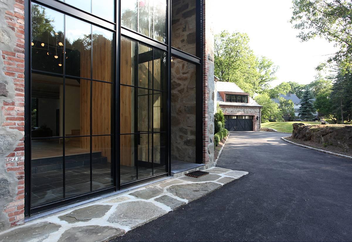 Steel and Glass Foyer: Sterling Ridge - Architect: Neumann & Rudy