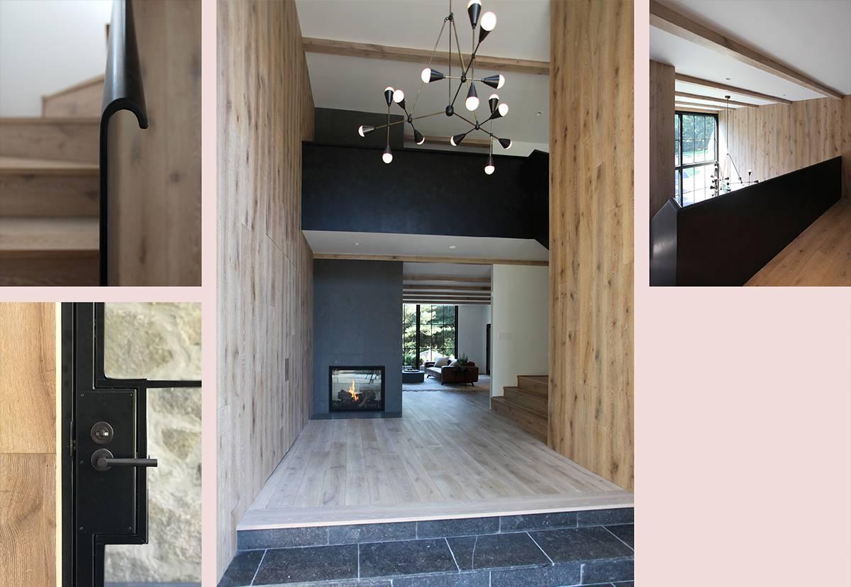 Foyer Details, Bent Steel Railing: Sterling Ridge - Architect: Neumann & Rudy