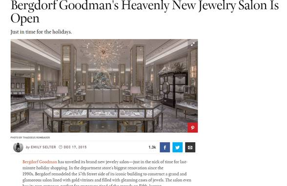 Bergdorf Goodman in Town & Country and Architectural Digest - Architect: Neumann & Rudy