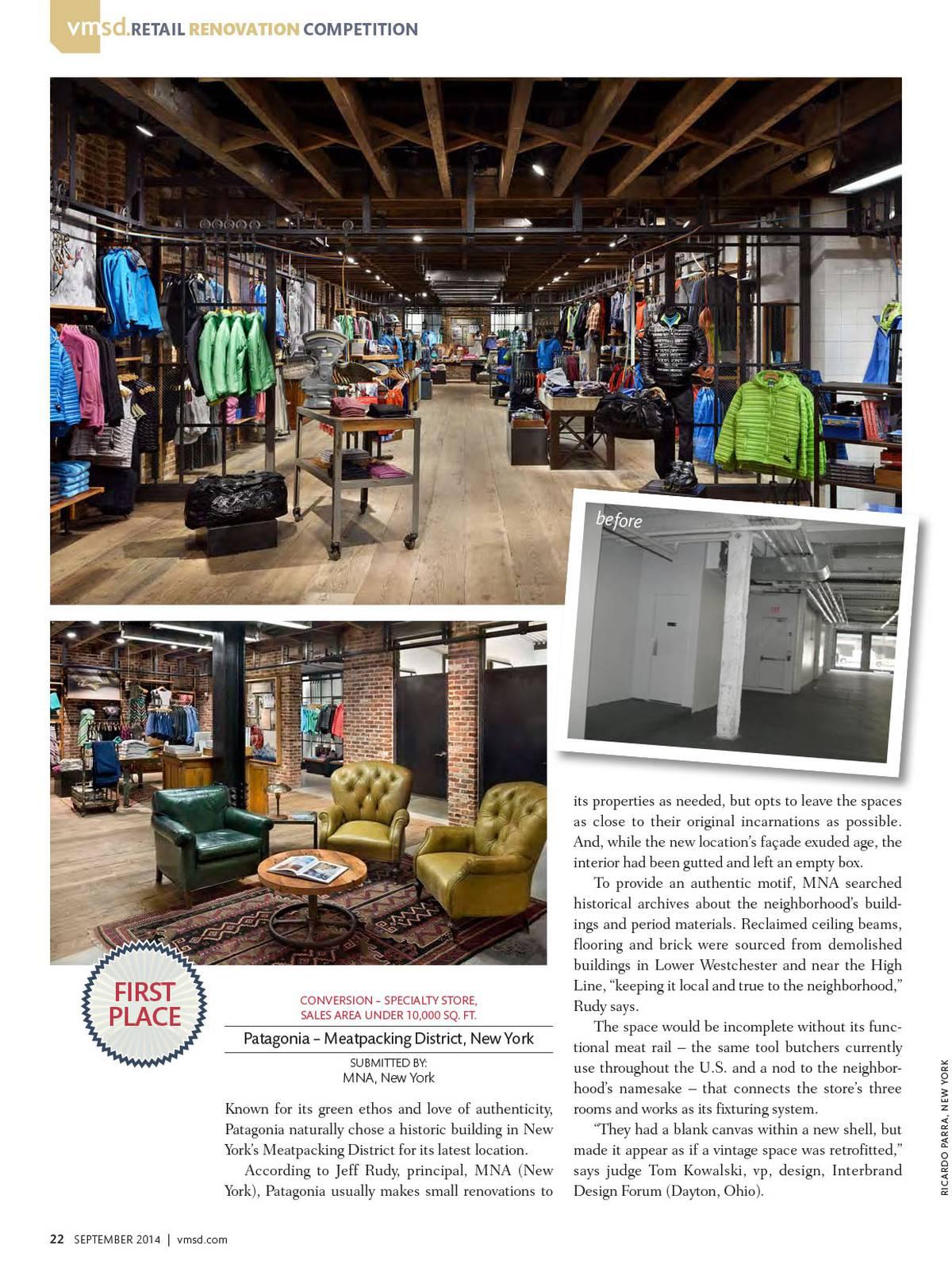 VMSD Retail Renovation Award Winner - Patagonia, Meatpacking, NYC - Architect: Neumann & Rudy