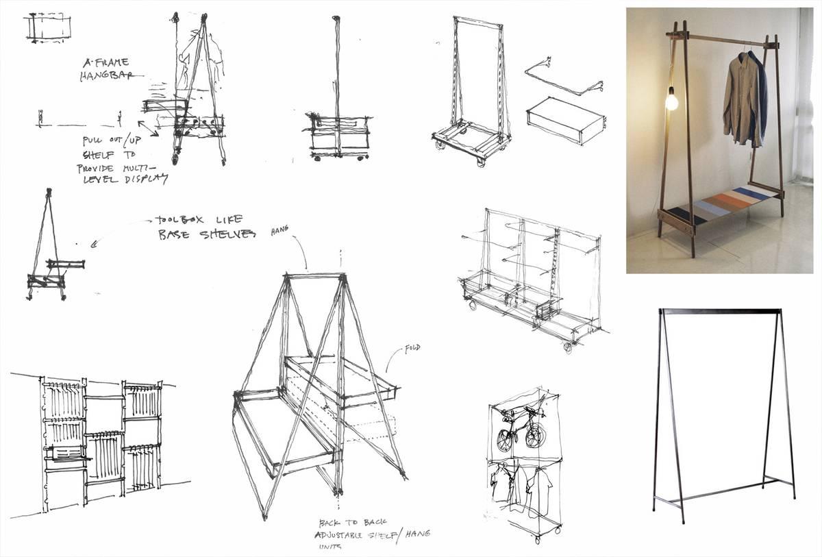 Lululemon's First Ever Mens Store Custom Fixtures - Architect: Neumann & Rudy