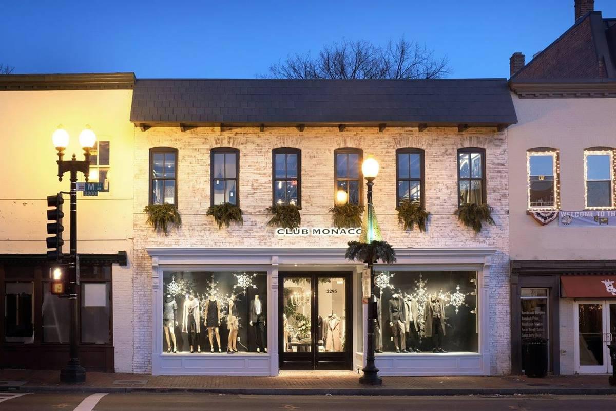 VMSD Retail Renovation Award Winner - Rhino Bar to Club Monaco Facade, Georgetown, Washington DC - Architect: Neumann & Rudy