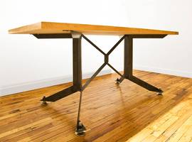 Bent Steel Table, MNA, New York, NY, NYC - Architect: Neumann & Rudy